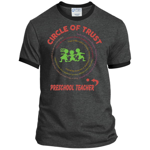 Preschool Teacher Circle of Trust Ringer Tee - TeachersLoungeShop - 4