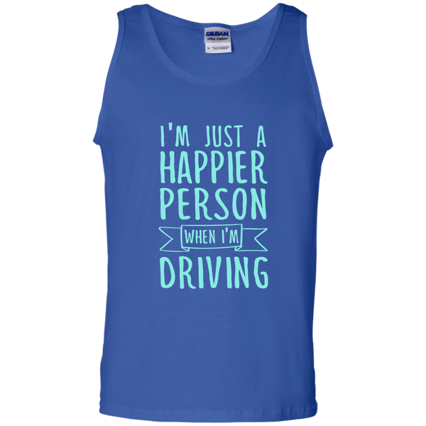 I'm Just a Happier Person When I'm Driving 100% Cotton Tank Top - TeachersLoungeShop - 4