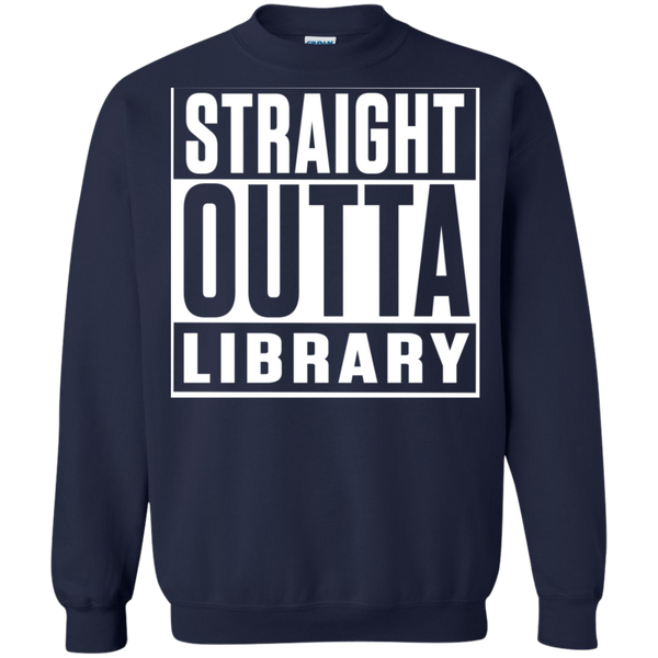 Straight Outta Library Pullover Sweatshirt  8 oz - TeachersLoungeShop - 3