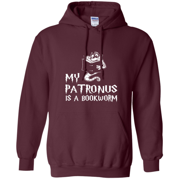 My Patronus is a Book Worm Pullover Hoodie 8 oz - TeachersLoungeShop - 5