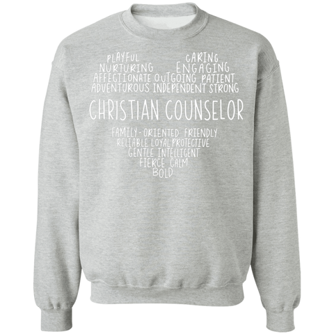 Christian Counselor Heart Crewneck Pullover Sweatshirt