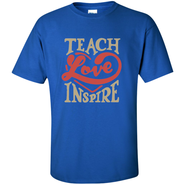 Teach Love Inspire Teacher Cotton T-Shirt - TeachersLoungeShop - 8