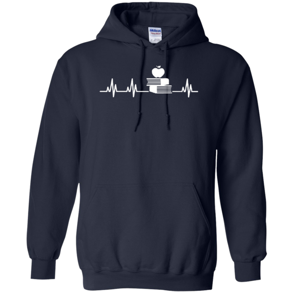 Teacher Heartbeat T-shirt Hoodies - TeachersLoungeShop - 7