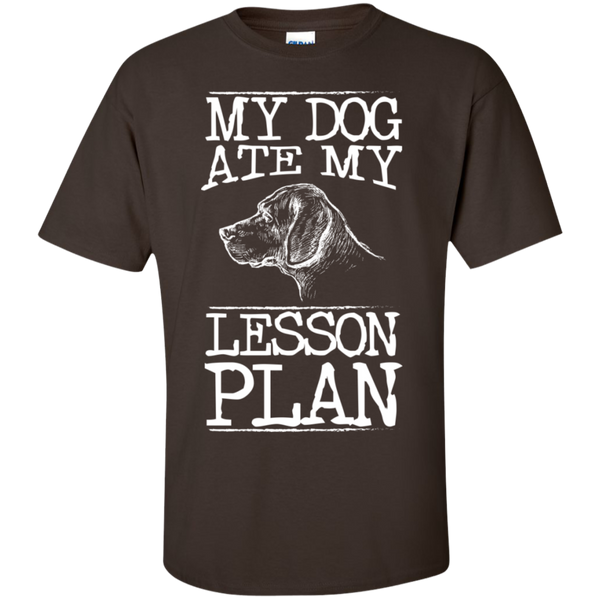 My Dog Ate my Lesson Plan  Cotton T-Shirt - TeachersLoungeShop - 7