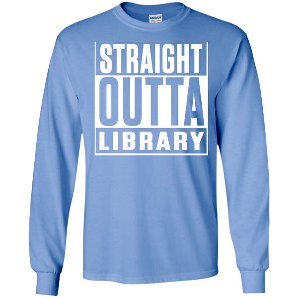 Straight Outta Library  LS Ultra Cotton Tshirt - TeachersLoungeShop - 3