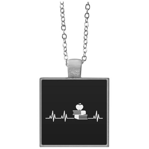 Teacher Heartbeat  Necklace