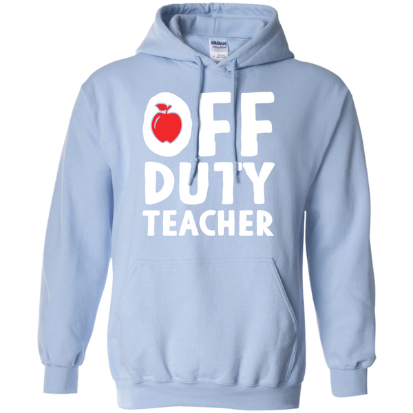 Off Duty Teacher Hoodie 8 oz - TeachersLoungeShop - 6