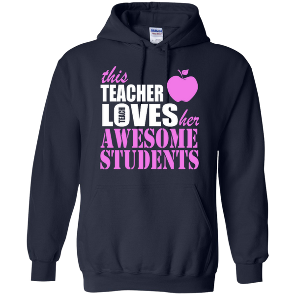 This Teacher Loves her Awesome Students T-shirt Hoodies - TeachersLoungeShop - 8