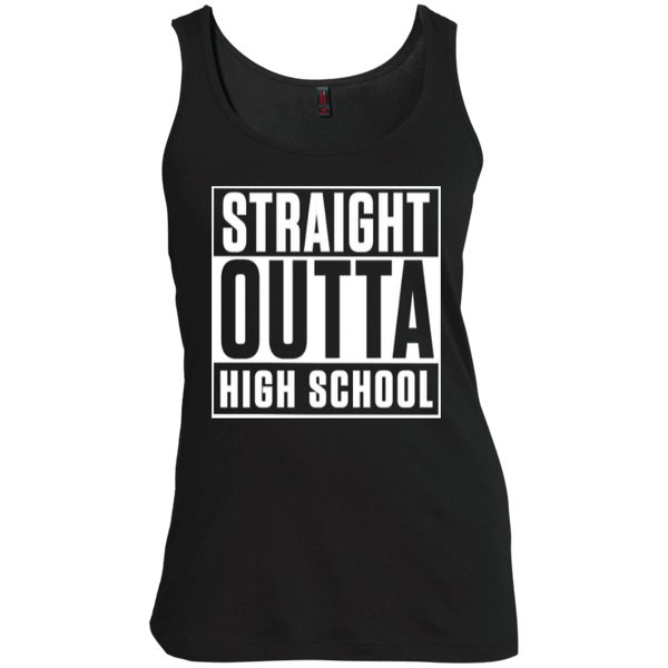 Straight Outta High School Women's Scoop Neck Tank Top - TeachersLoungeShop - 1