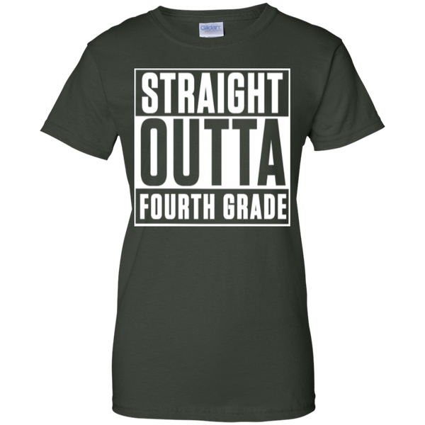Straight Outta Fourth Grade  100% Cotton T-Shirt - TeachersLoungeShop - 6