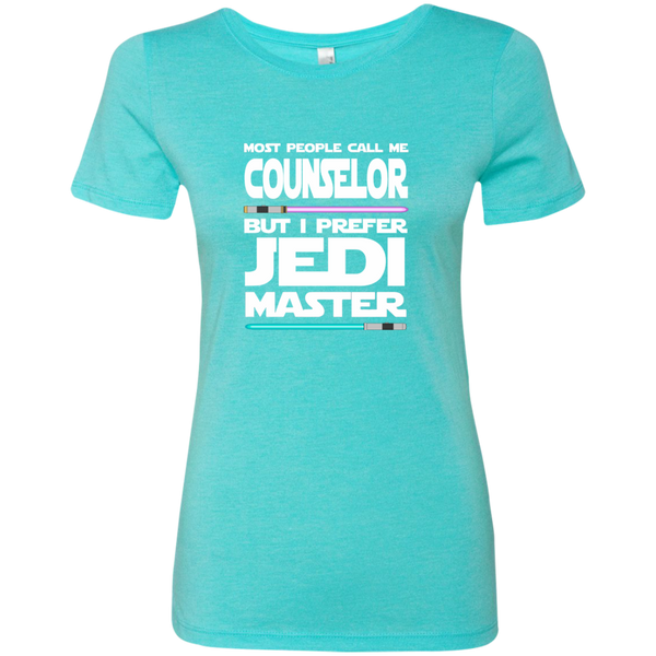 Most People Call Me Counselor But I Prefer Jedi Master Next Level Ladies Triblend T-Shirt - TeachersLoungeShop - 4