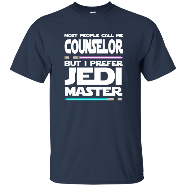 Most People Call Me Counselor But I Prefer Jedi Master Cotton T-Shirt - TeachersLoungeShop - 10