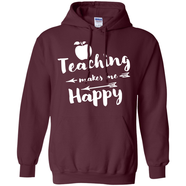 Teaching makes me Happy     Hoodie 8 oz - TeachersLoungeShop - 10