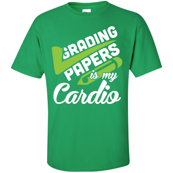 Grading papers is my cardio Cotton T-Shirt - TeachersLoungeShop - 7