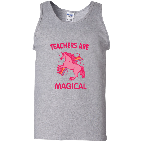 Teachers are Magical 100% Cotton Tank Top - TeachersLoungeShop - 1