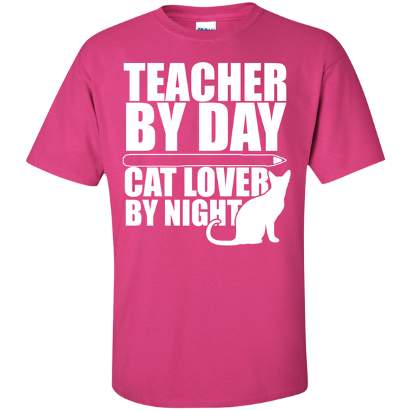 Teacher by Day Cat Lover by Night  T-Shirt - TeachersLoungeShop - 11