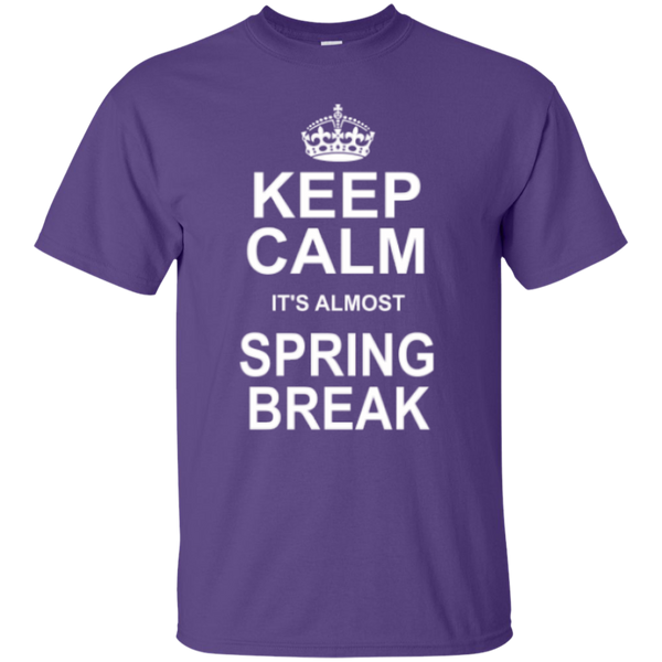 Keep Calm its almost Spring Break Teacher T-shirt Hoodie - TeachersLoungeShop - 3