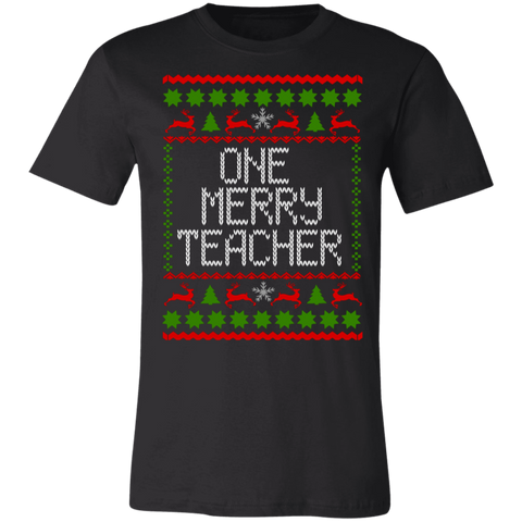 One Merry Teacher. Short-Sleeve T-Shirt