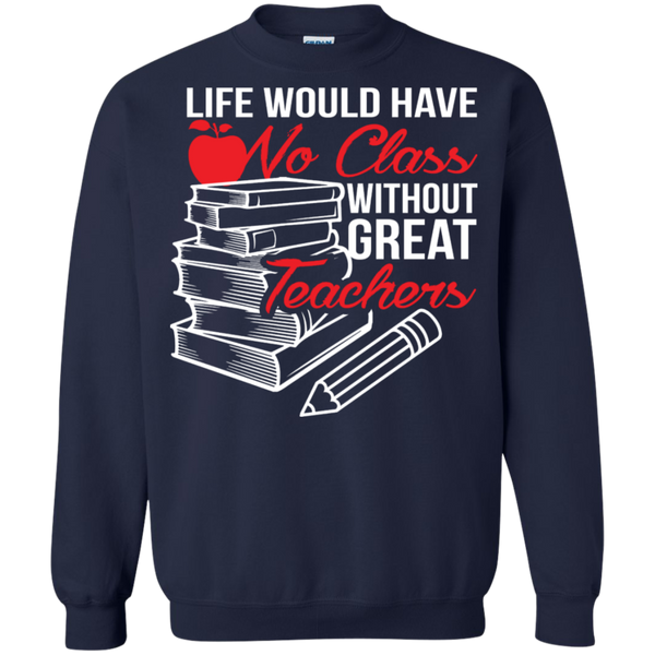 Printed Crewneck Pullover Sweatshirt  8 oz - TeachersLoungeShop - 3