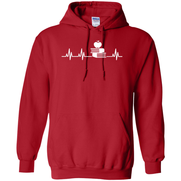 Teacher Heartbeat T-shirt Hoodies - TeachersLoungeShop - 10