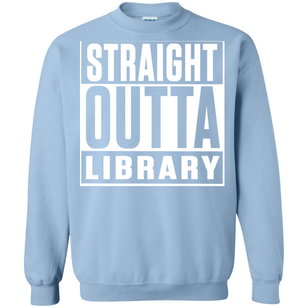 Straight Outta Library Pullover Sweatshirt  8 oz - TeachersLoungeShop - 10