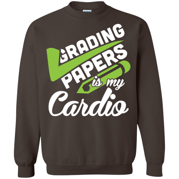 Grading papers is my cardio   Crewneck Pullover Sweatshirt  8 oz - TeachersLoungeShop - 7