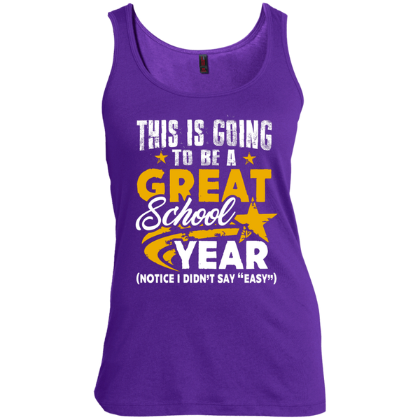 This is Going to be a Great School Year  Women's Scoop Neck Tank Top - TeachersLoungeShop - 4