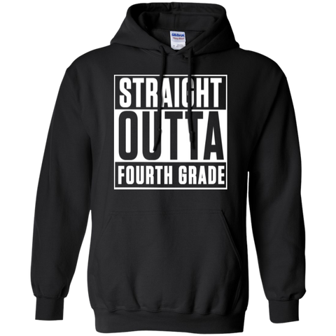 Straight Outta Fourth Grade   Hoodie 8 oz - TeachersLoungeShop - 1