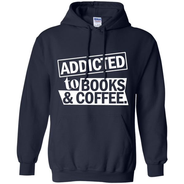 Addicted to Books and Coffee Pullover Hoodie 8 oz - TeachersLoungeShop - 2