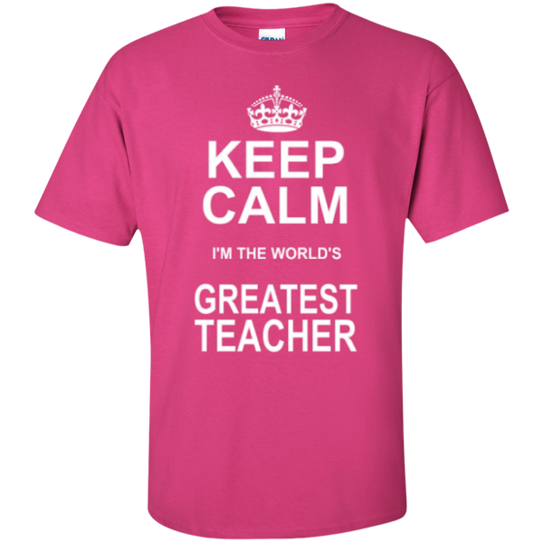 Keep Calm i'm the World's Greatest Teacher T-shirt Hoodie - TeachersLoungeShop - 4