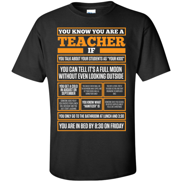 You know You are a Teacher if  T-Shirt - TeachersLoungeShop - 1