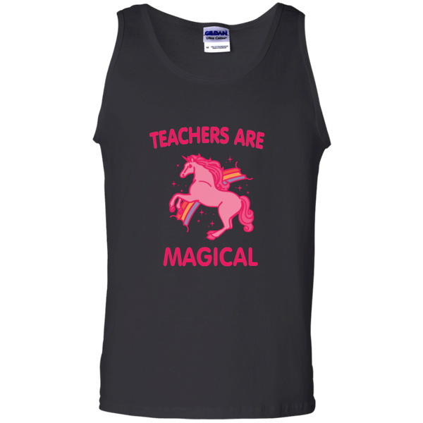 Teachers are Magical 100% Cotton Tank Top - TeachersLoungeShop - 2