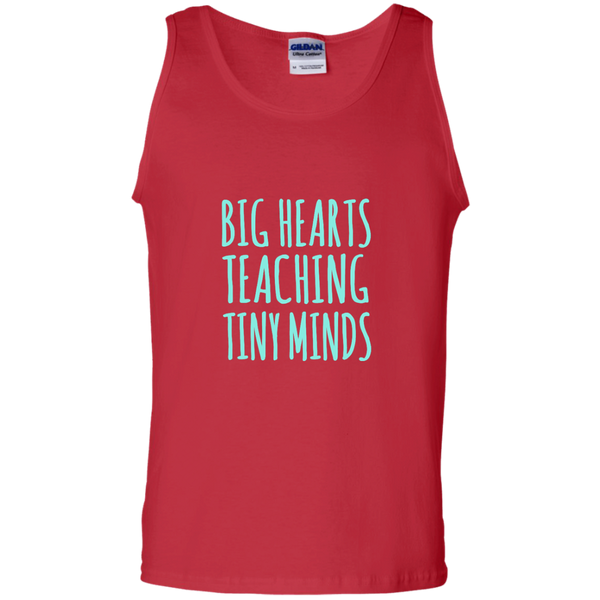 Big Hearts Teaching Tiny Minds 100% Cotton Tank Top - TeachersLoungeShop - 4