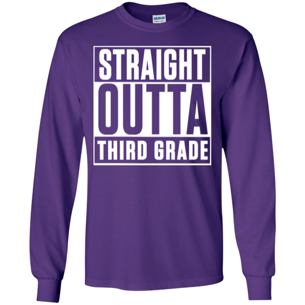 Straight Outta Third Grade LS Cotton Tshirt - TeachersLoungeShop - 8