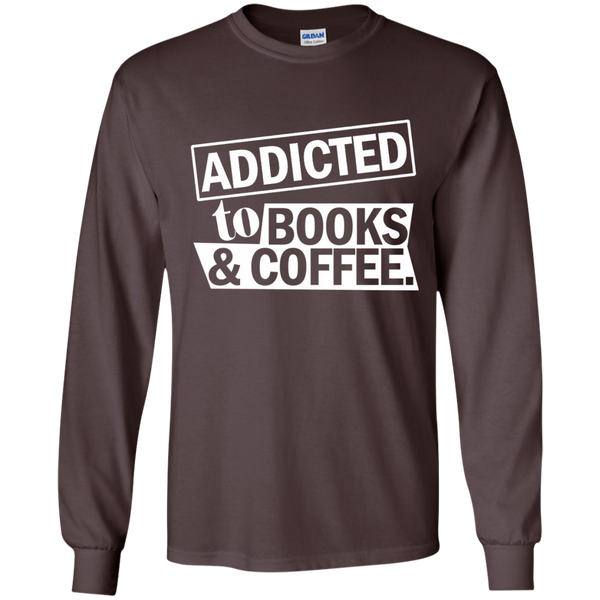 Addicted to Books and Coffee LS Ultra Cotton Tshirt - TeachersLoungeShop - 4