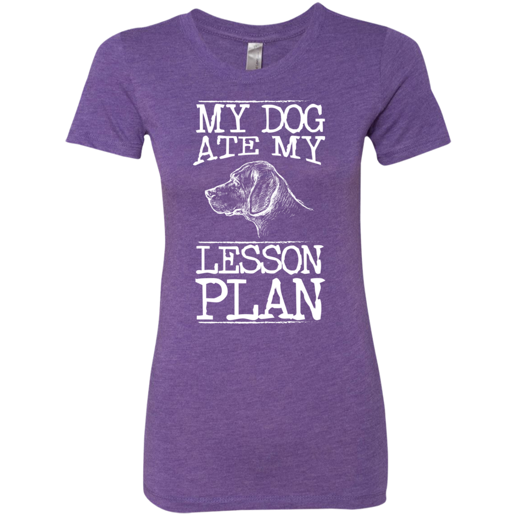 My Dog Ate my Lesson Plan Next  Level Ladies Triblend T-Shirt - TeachersLoungeShop - 1