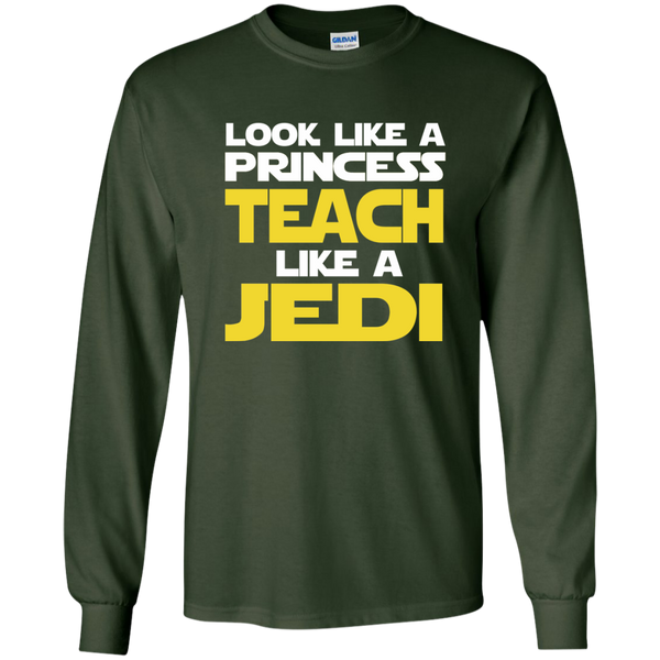 Look Like a Princess Teach Like a Jedi LS Ultra Cotton Tshirt - TeachersLoungeShop - 2