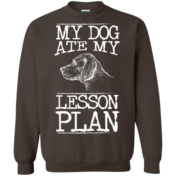 My Dog Ate my Lesson Plan Crewneck Pullover Sweatshirt  8 oz - TeachersLoungeShop - 6