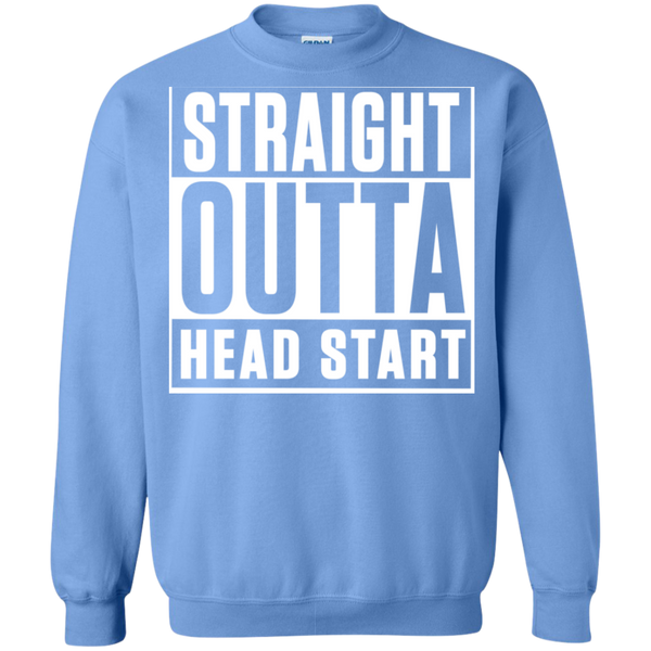 Straight Outta Head Start  Crewneck Pullover Sweatshirt  8 oz - TeachersLoungeShop - 10