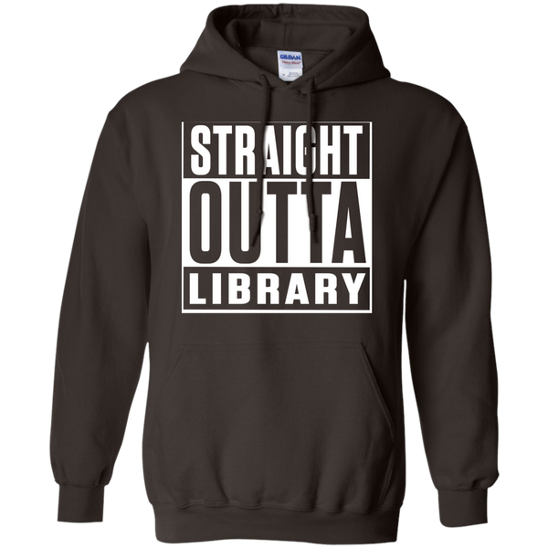 Straight Outta Library  Hoodie 8 oz - TeachersLoungeShop - 5