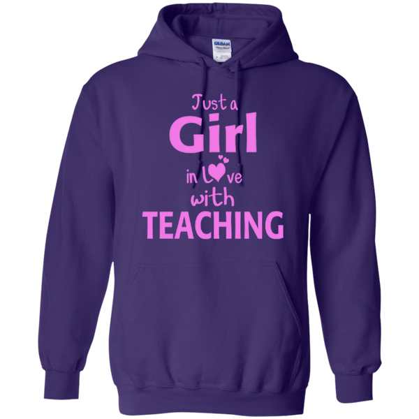 Just a Girl in Love with Teaching T-shirt Hoodie - TeachersLoungeShop - 10