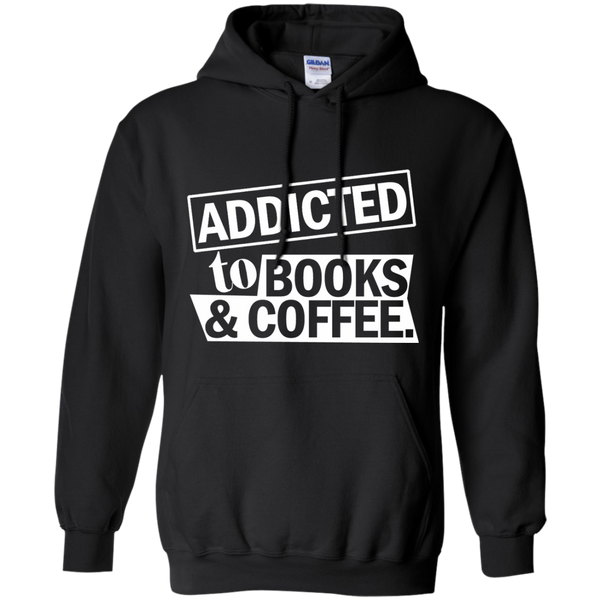 Addicted to Books and Coffee Pullover Hoodie 8 oz - TeachersLoungeShop - 1
