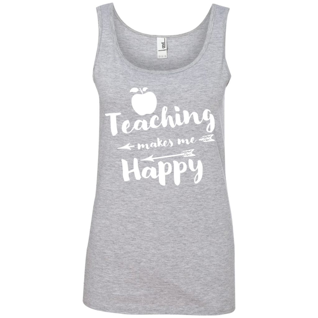 Ladies' 100% Ringspun Cotton Tank Top - TeachersLoungeShop - 1