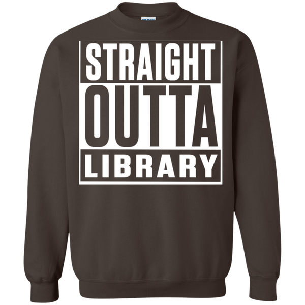 Straight Outta Library Pullover Sweatshirt  8 oz - TeachersLoungeShop - 7
