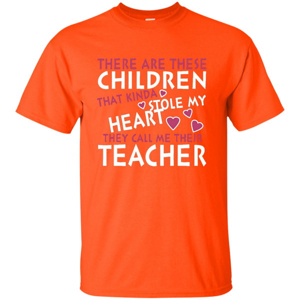 There are these Children that Kinda Stole My Heart They call Me Their Teacher Ultra Cotton T-Shirt - TeachersLoungeShop - 2
