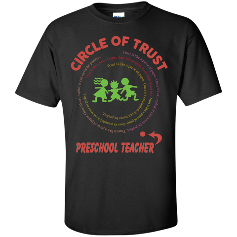 Preschool Teacher Circle of Trust Cotton T-Shirt - TeachersLoungeShop - 1