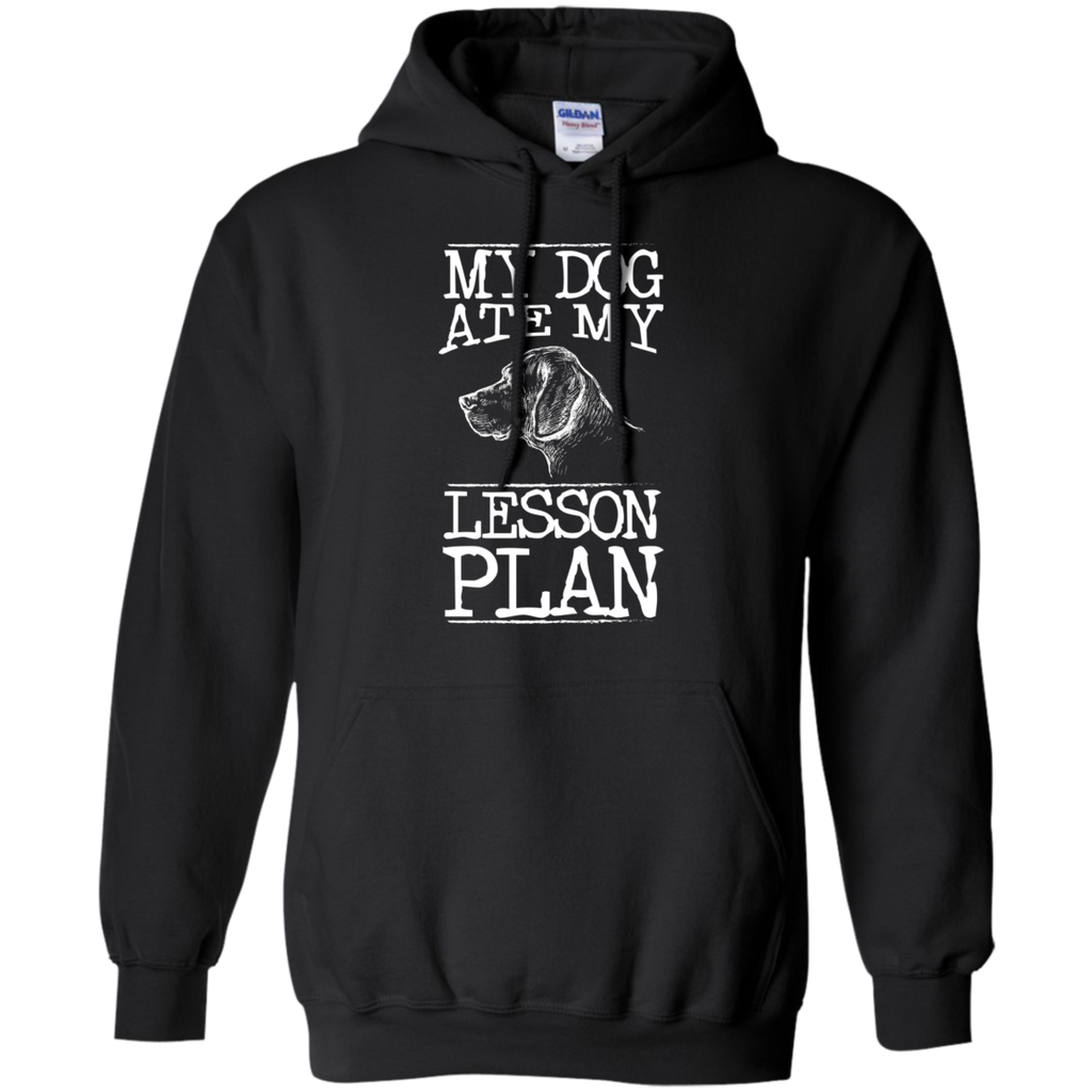 My Dog Ate my Lesson Plan  Hoodie 8 oz - TeachersLoungeShop - 1