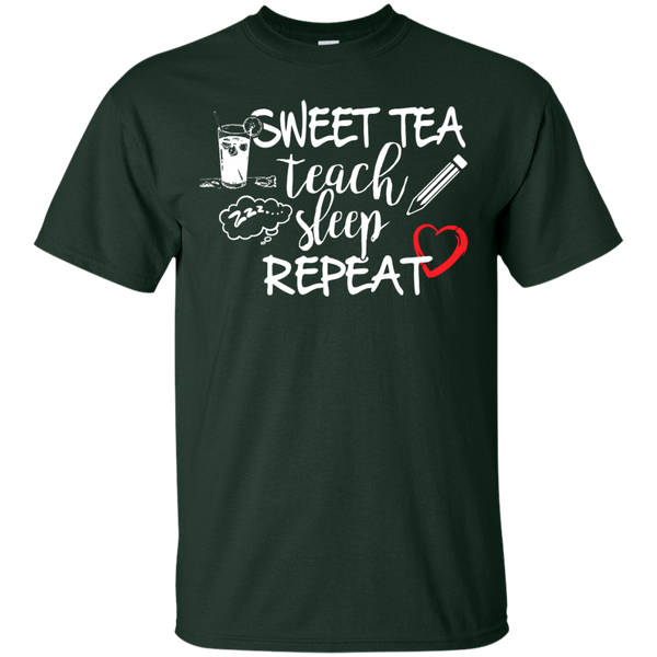 Sweet Tea Teach Sleep Repeat  T-Shirt - TeachersLoungeShop - 2