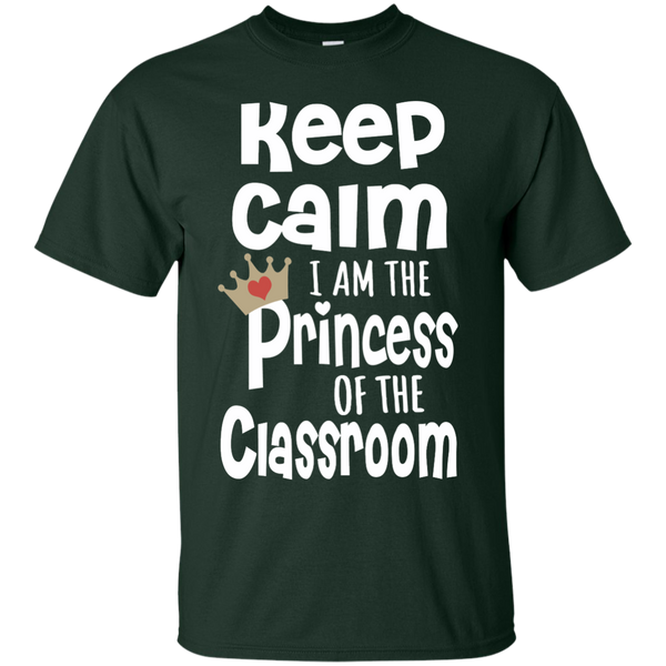 Keep Calm I am the Princess of the Classroom Cotton T-Shirt - TeachersLoungeShop - 3