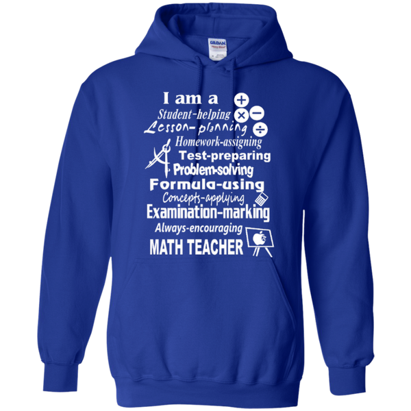 I am a Math Teacher Limited Edition T-shirt Hoodie - TeachersLoungeShop - 11